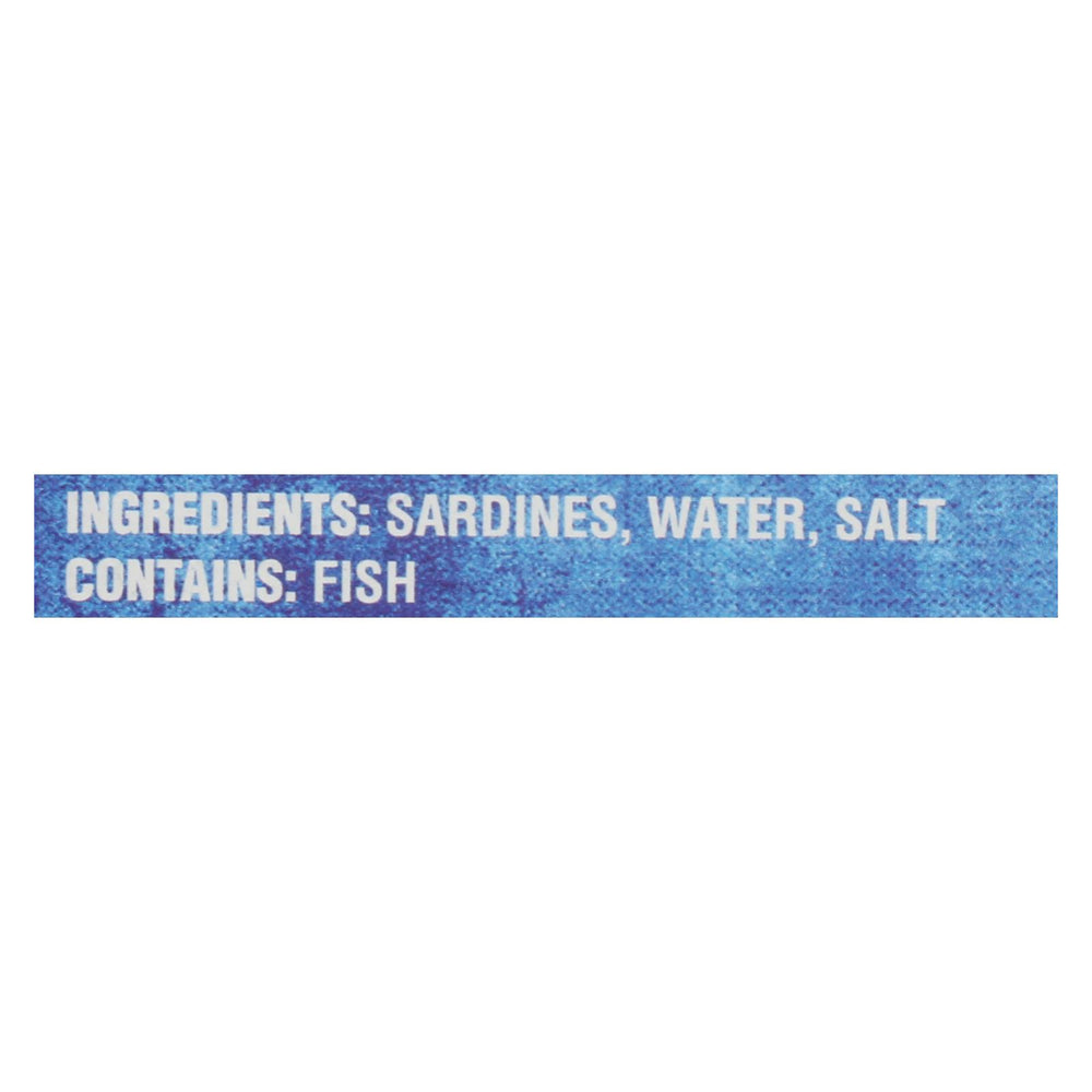 Crown Prince Skinless And Boneless Sardines In Water - Case Of 12 - 4.37 Oz.