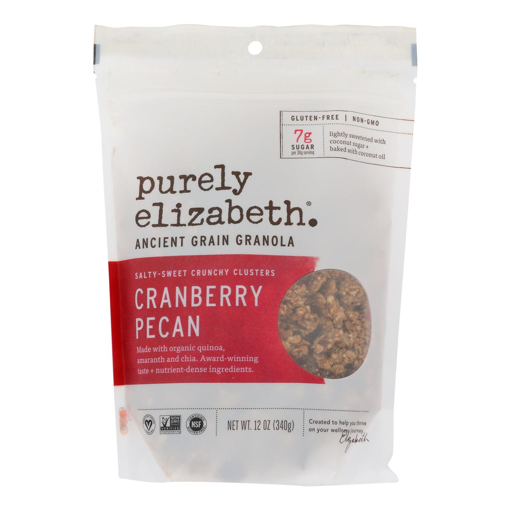Purely Elizabeth Organic Ancient Grain Granola - Cranberry Pecan - Case Of 6 - 12 Oz.