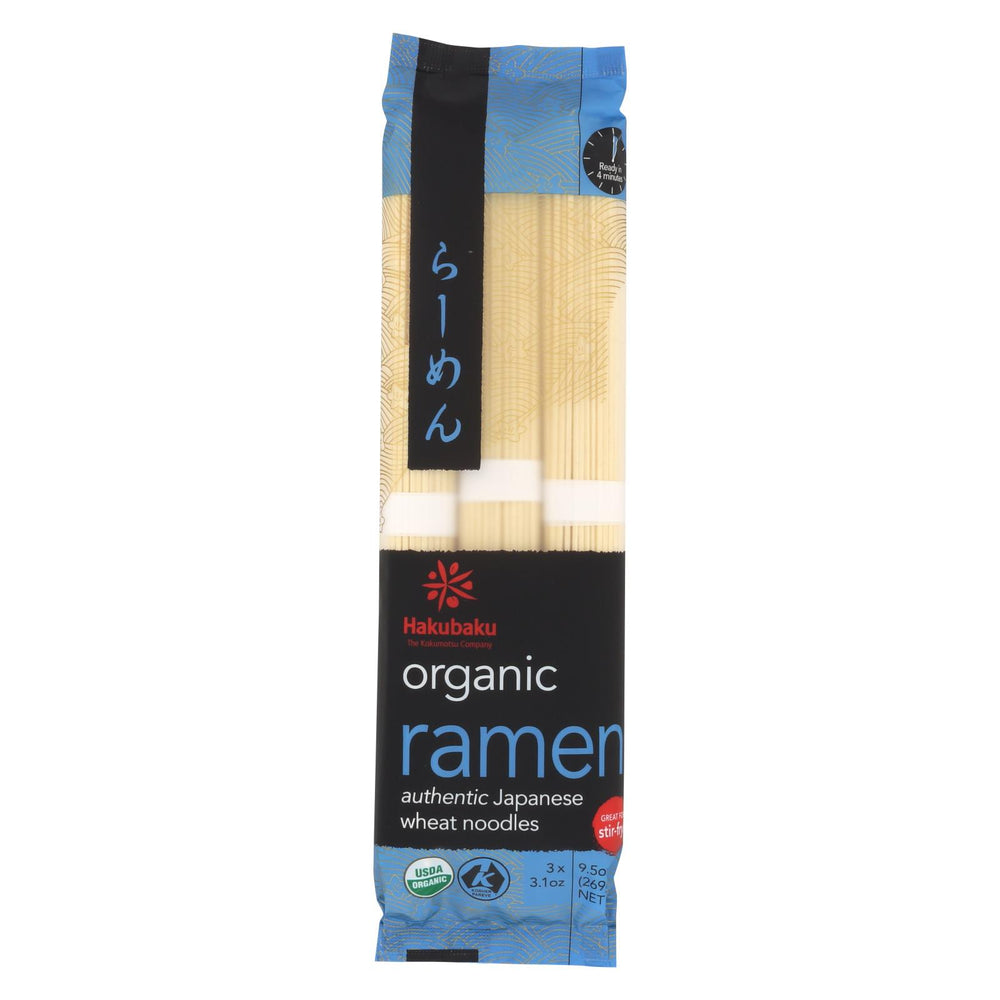 Hakubaku Organic Noodles - Ramen - Case Of 8 - 9.52 Oz