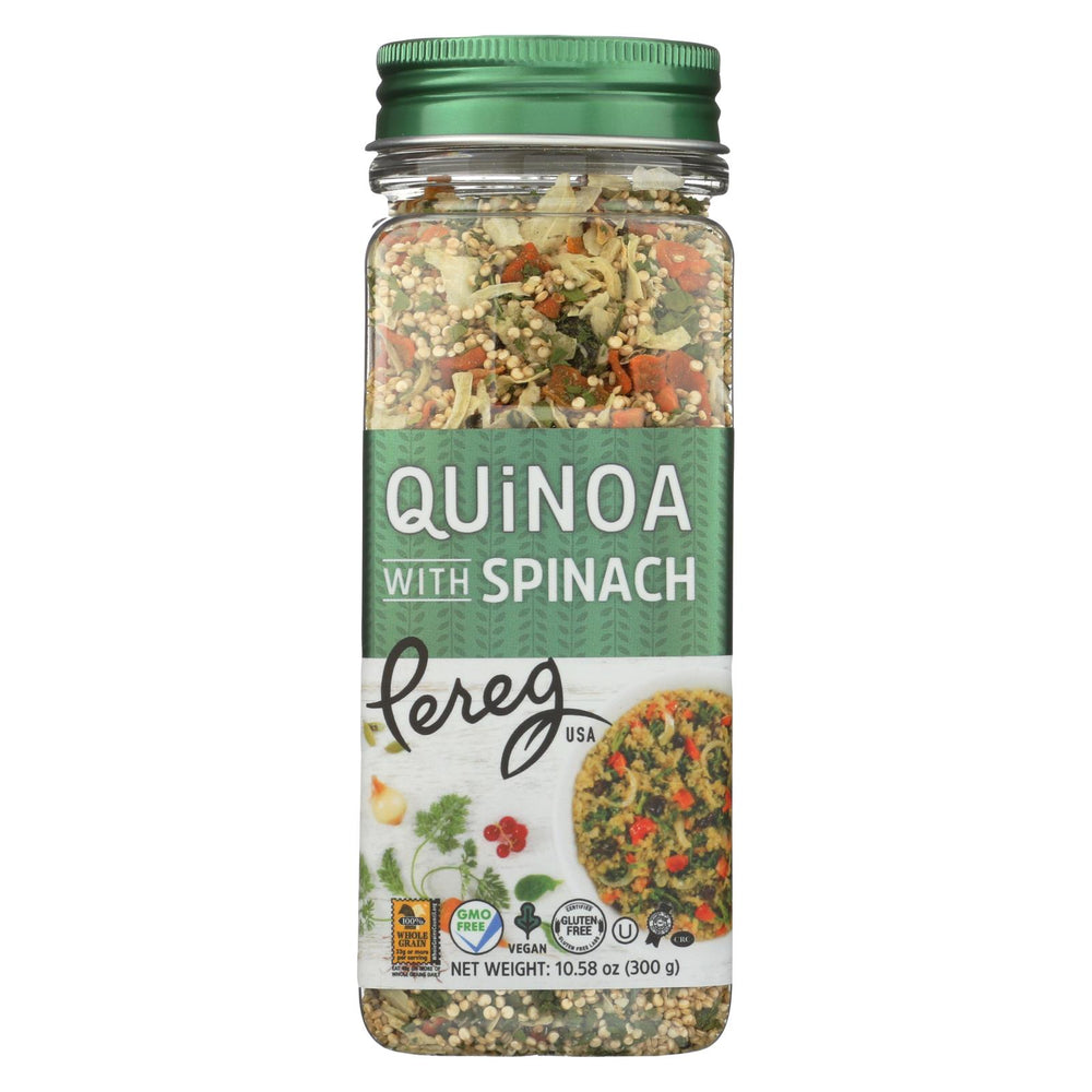 Pereg Quinoa With Spinach - Case Of 6 - 10.58 Oz.