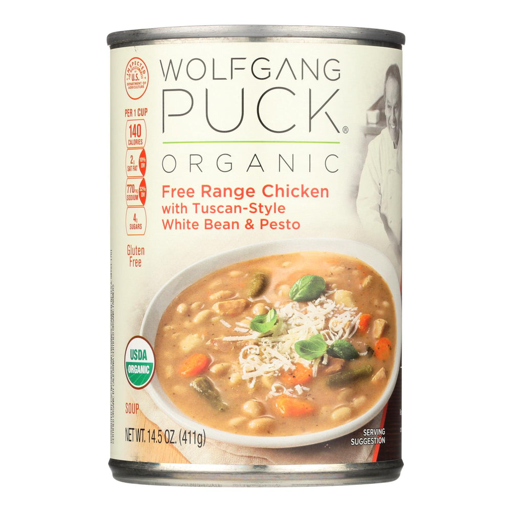 Wolfgang Puck Organic Soup - Wheat Bean And Pesto - Case Of 12 - 14.5 Oz.