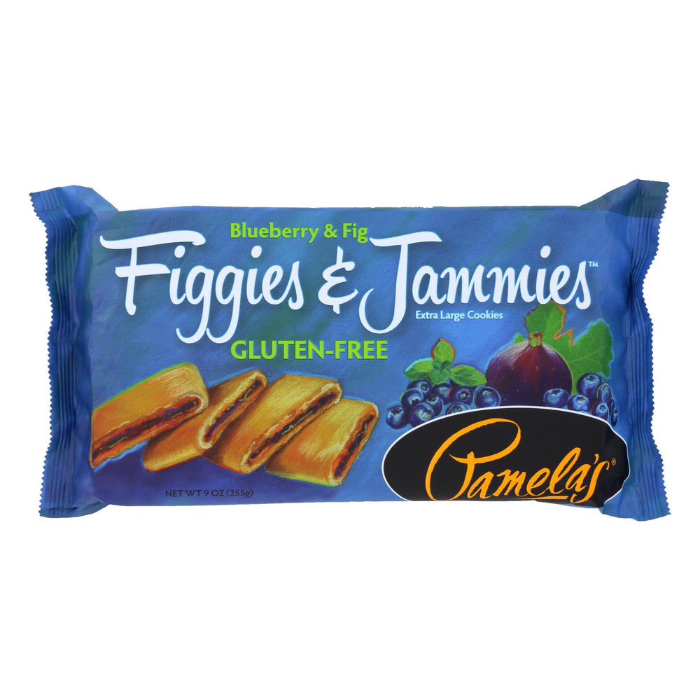 Pamela's Products - Figgies And Jammies Cookies - Blueberry And Fig - Case Of 6 - 9 Oz.