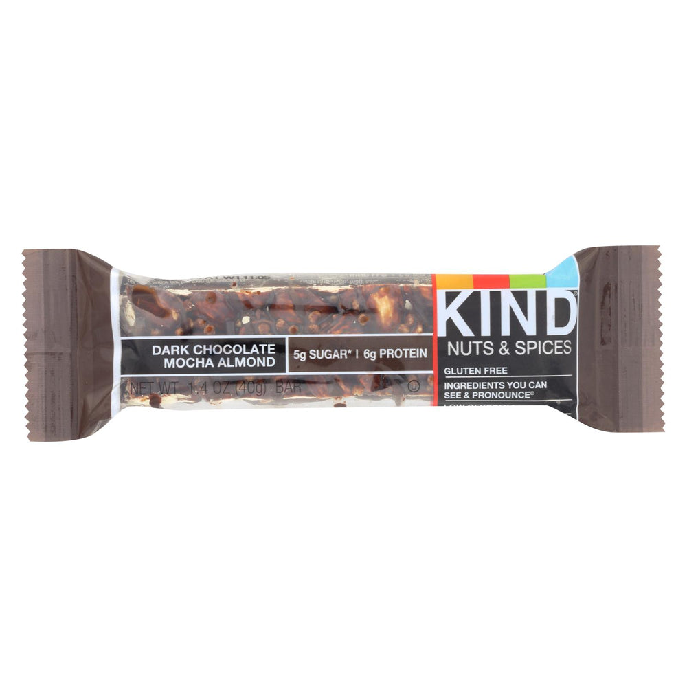 Kind Bar - Dark Chocolate Mocha Almond - 1.4 Oz Bars - Case Of 12