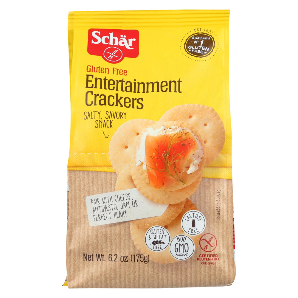 Schar Entertainment Crackers Gluten Free - Case Of 6 - 6.2 Oz.