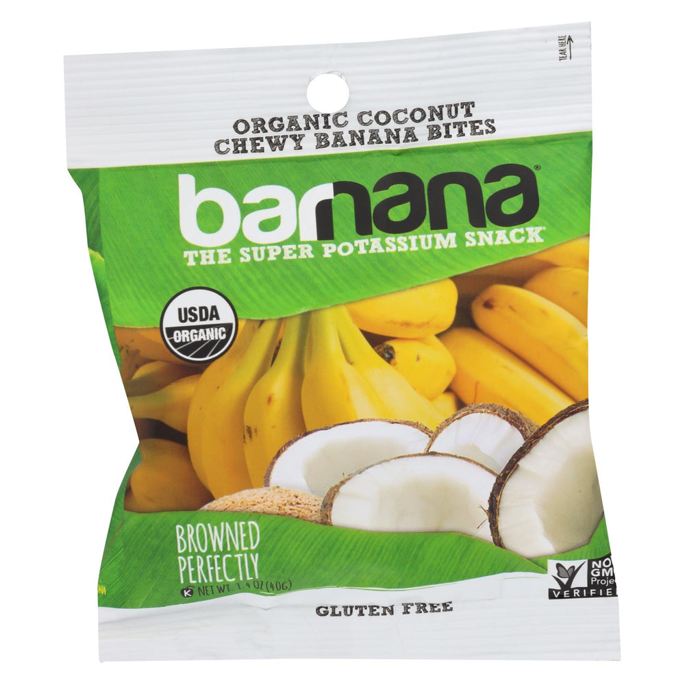 Barnana Organic Chewy Banana Bites - Coconut - Case Of 12 - 1.4 Oz