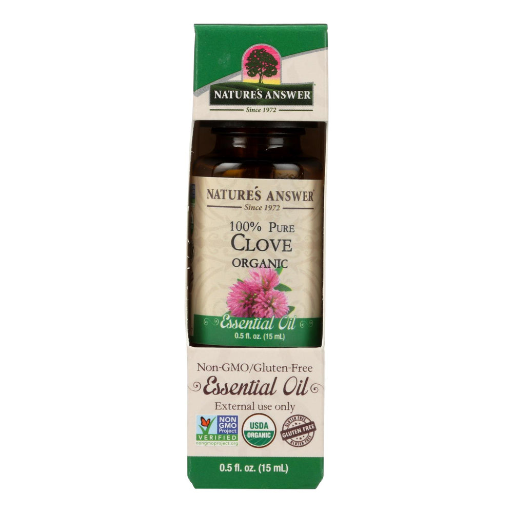 Nature's Answer - Organic Essential Oil - Clove - 0.5 Oz.