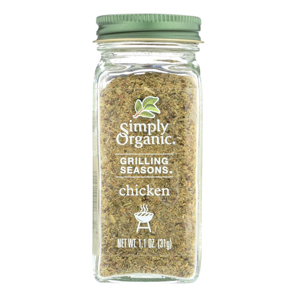 Simply Organic Chicken Grilling Seasons - Case Of 6 - 1.1 Oz.