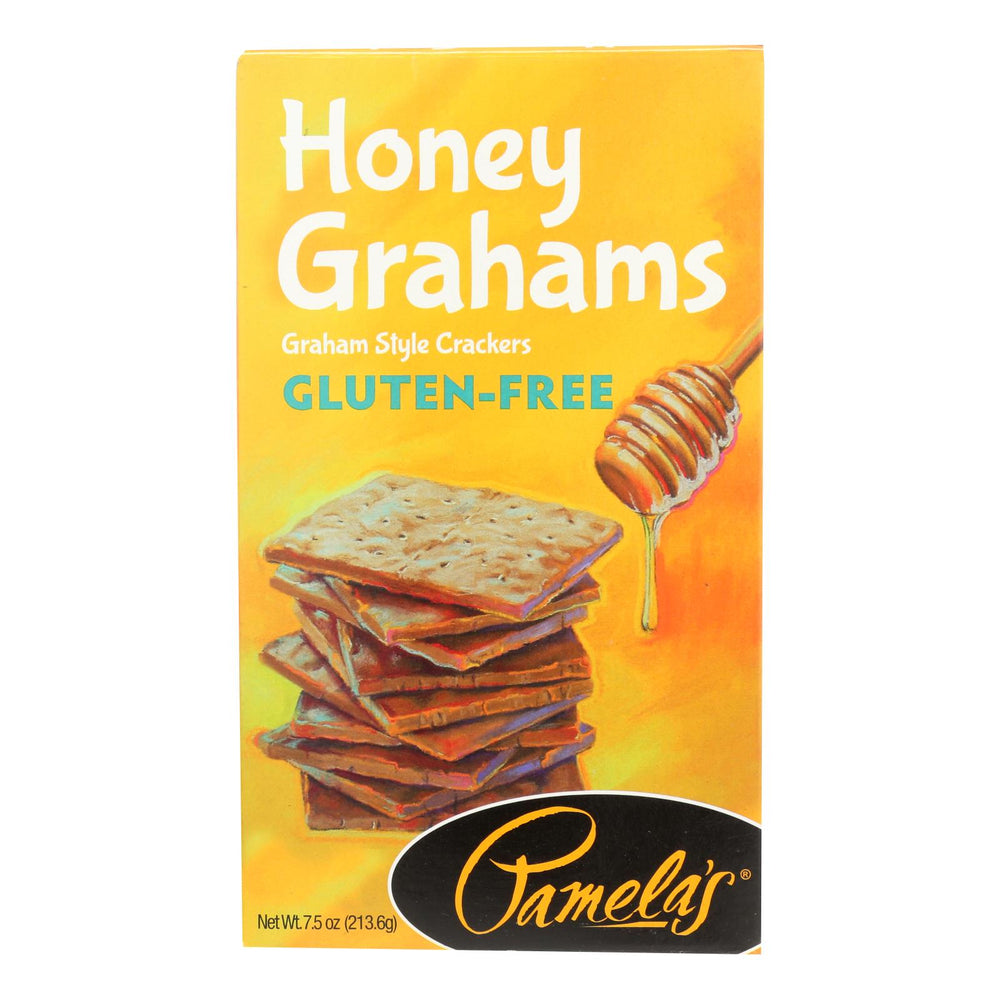 Pamela's Products - Graham Style Crackers - Honey - Case Of 6 - 7.5 Oz.
