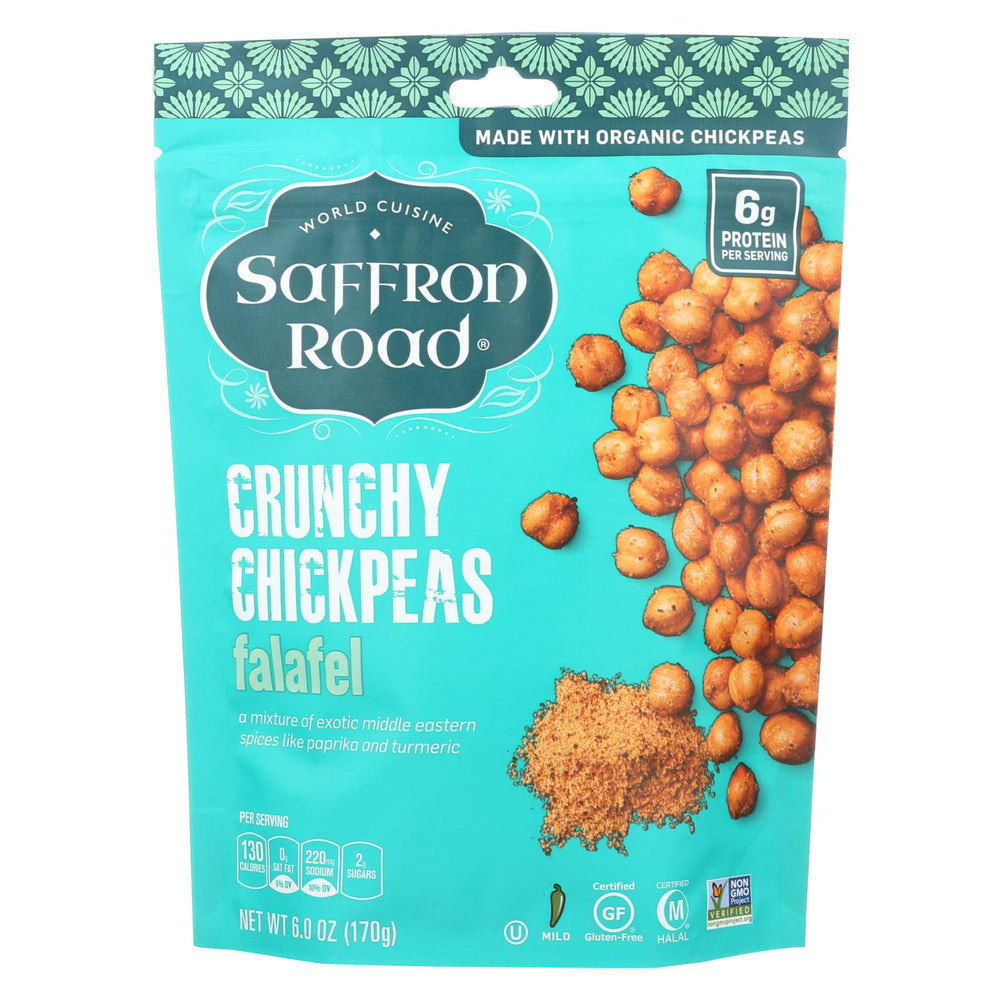 Saffron Road Crunchy Chickpeas - Falafel - Case Of 12 - 6 Oz.