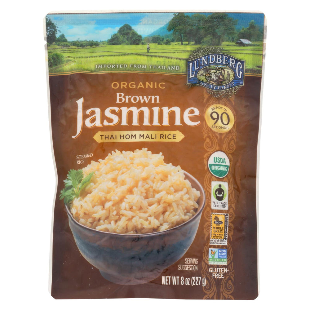 Lundberg Family Farms Organic Thai Rice - Brown Jasmine - Case Of 6 - 8 Oz