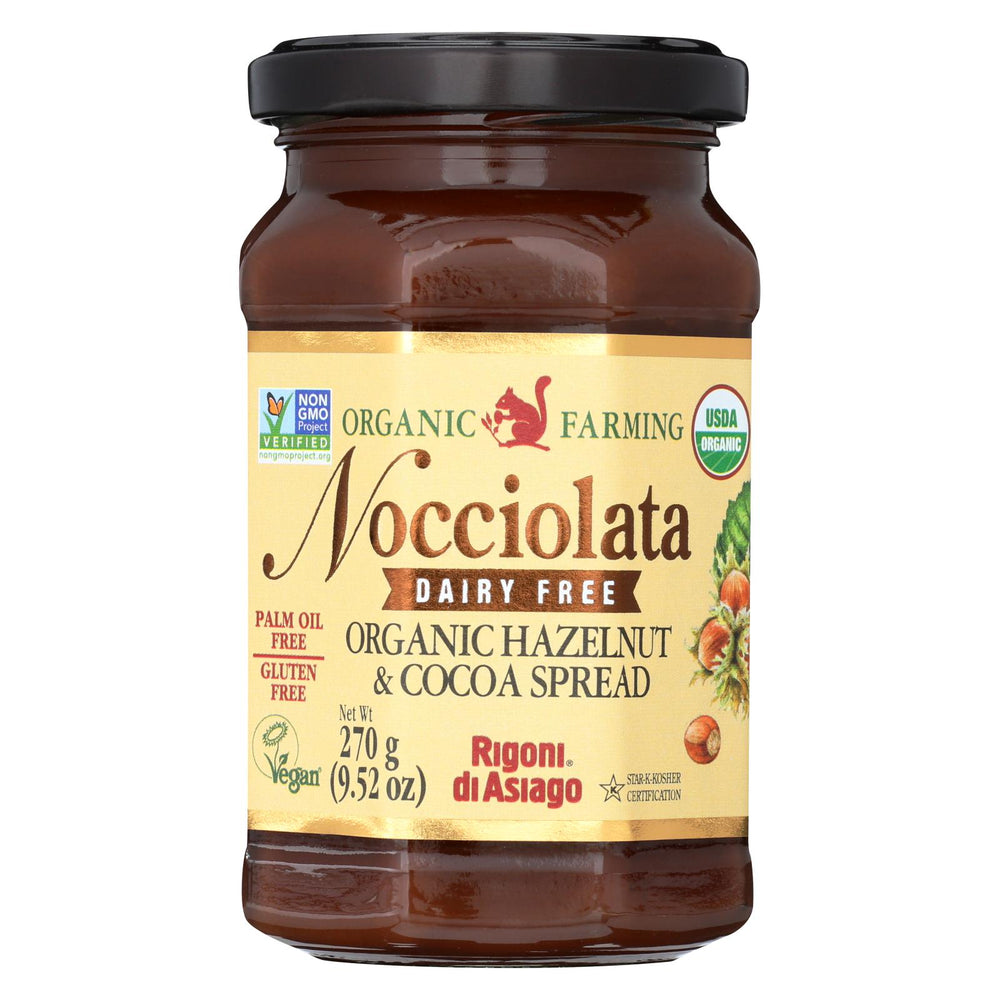 Nocciolata Organic Spread - Hazelnut & Cocoa - Case Of 6 - 9.52 Oz
