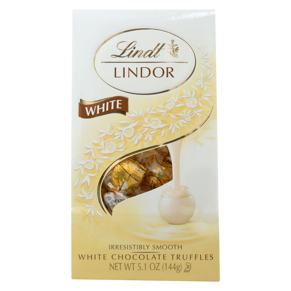 Lindt - Truffles White Chocolate Bag - Case Of 6-5.1 Oz