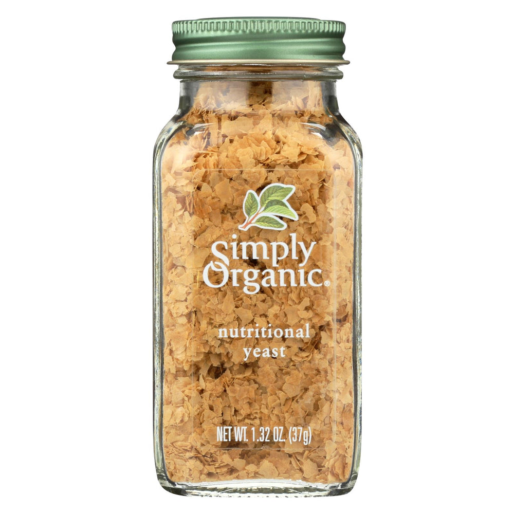Simply Organic Certified Organic Nutritional Yeast - Case Of 6 - 1.32 Oz
