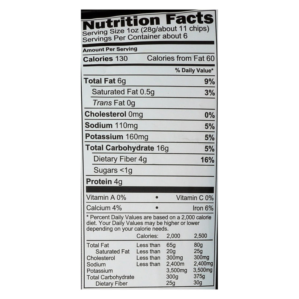 Beanfields - Black Bean And Rice Chips - Sea Salt - Case Of 6 - 5.5 Oz