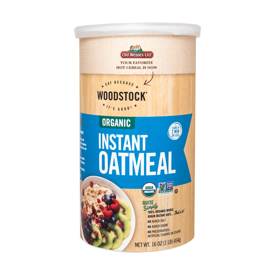 Woodstock Organic Instant Oats - Case Of 12 - 16 Oz.