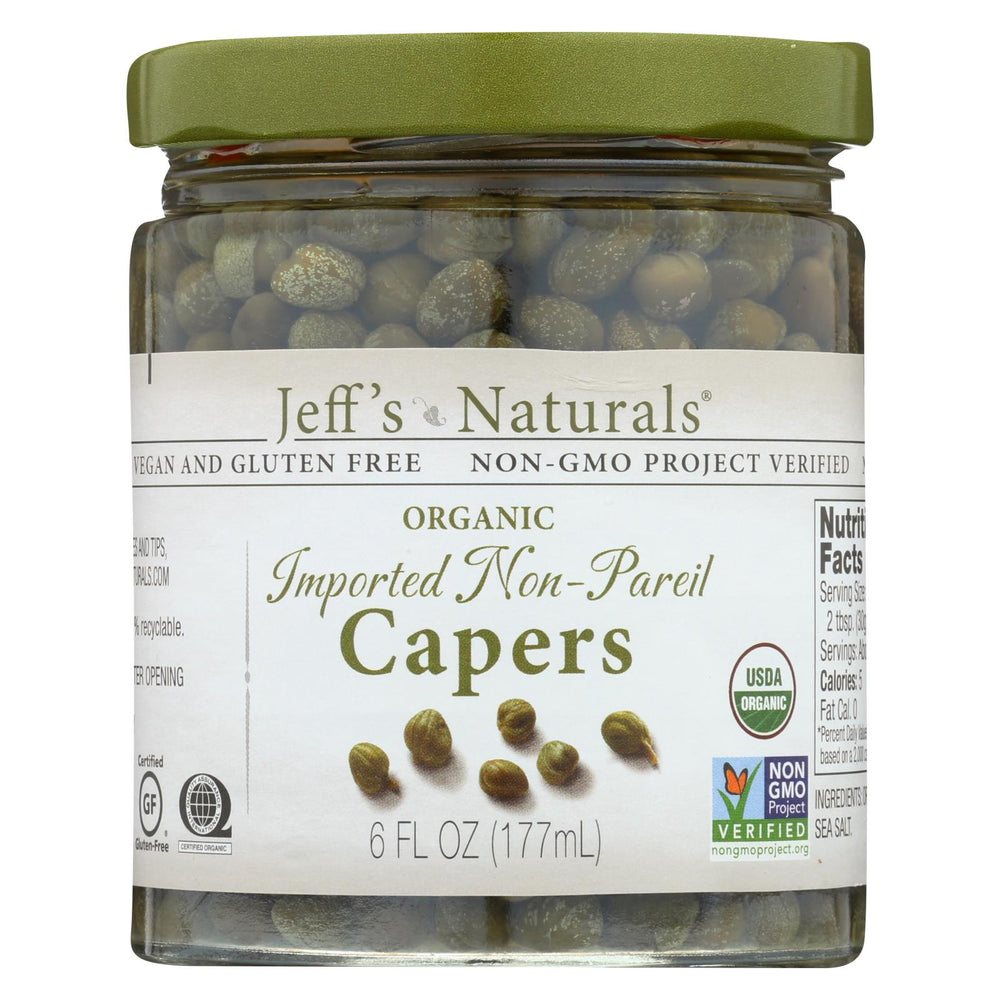 Jeff's Natural Jeff's Natural Imported Non Pareil Capers - Capers - Case Of 6 - 6 Oz.