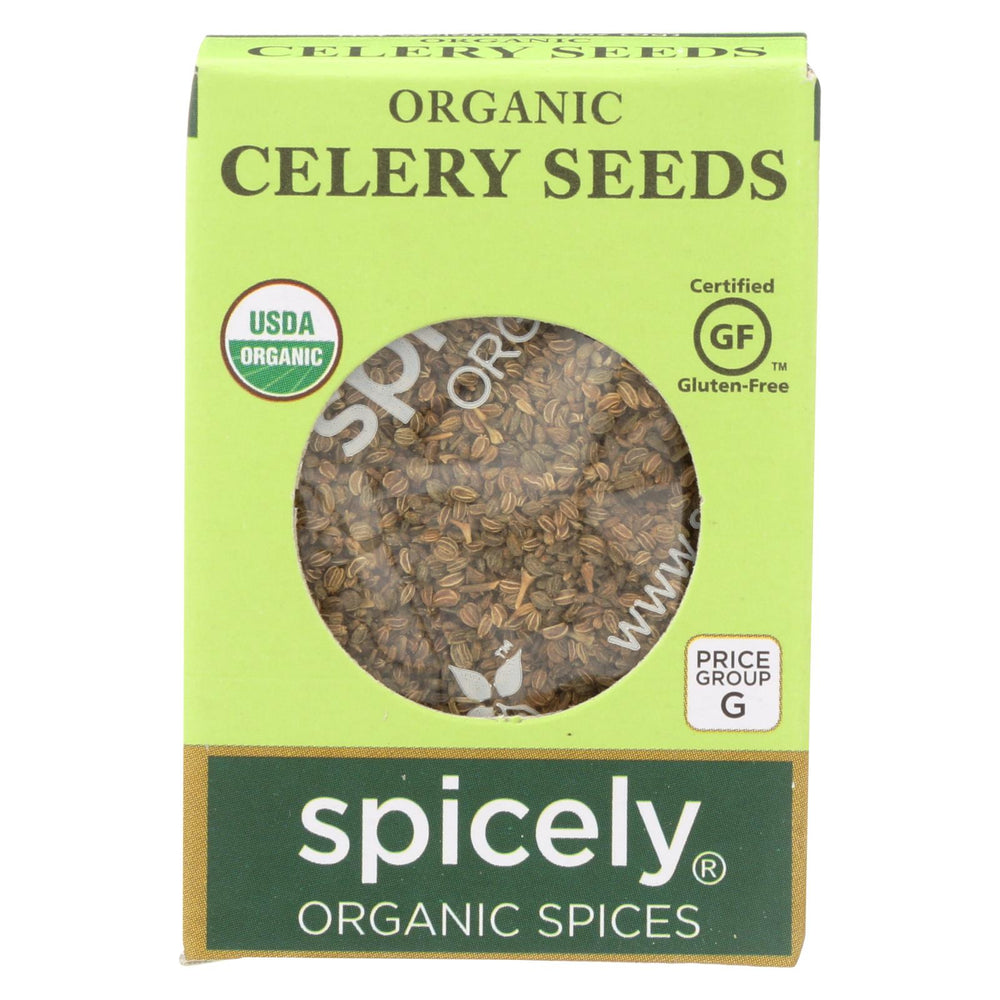Spicely Organics - Organic Celery Seeds - Case Of 6 - 0.35 Oz.