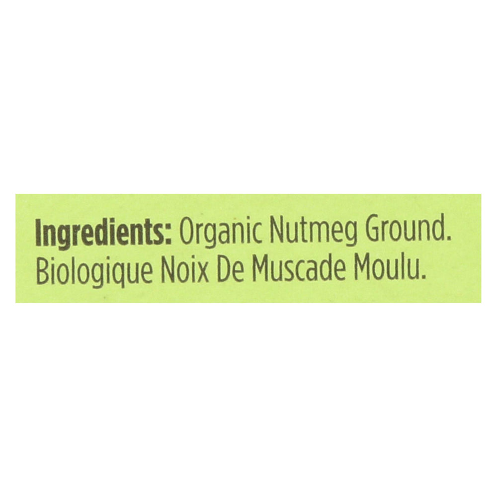 Spicely Organics - Organic Nutmeg - Ground - Case Of 6 - 0.4 Oz.