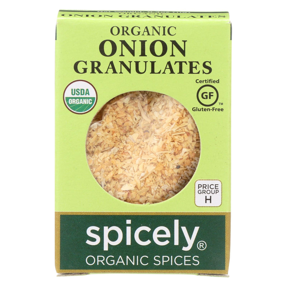 Spicely Organics - Organic Onion Granulates - Case Of 6 - 0.4 Oz.