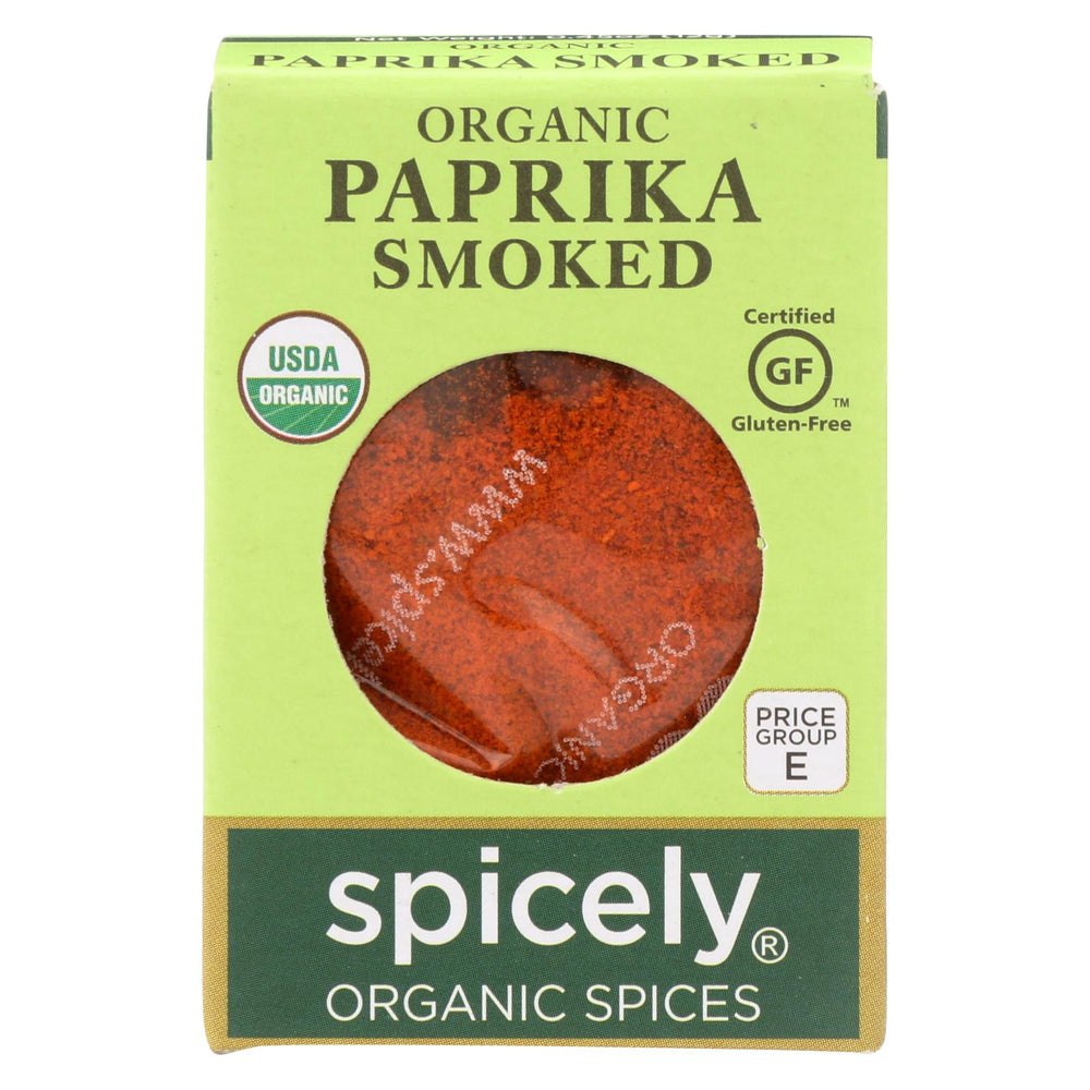 Spicely Organics - Organic Paprika - Smoked - Case Of 6 - 0.45 Oz.