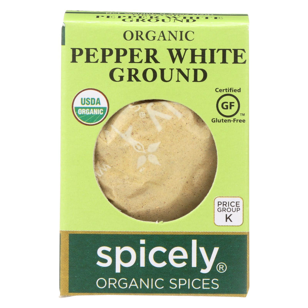 Spicely Organics - Organic Peppercorn - White Ground - Case Of 6 - 0.45 Oz.