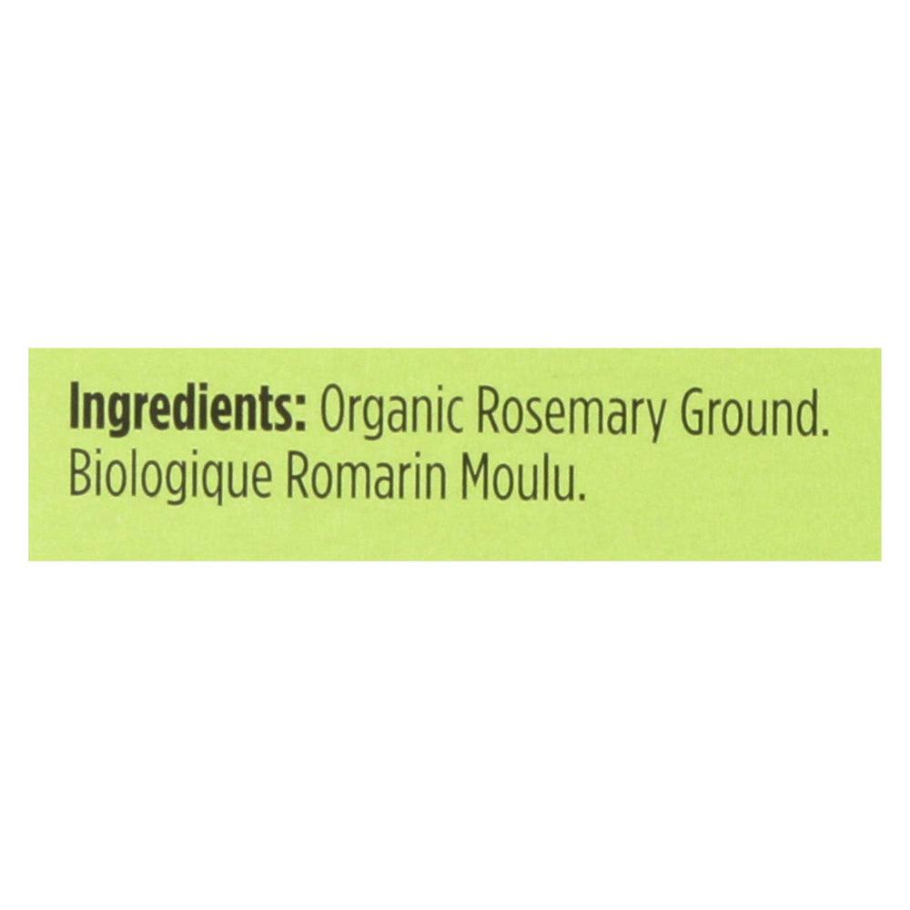 Spicely Organics - Organic Rosemary - Ground - Case Of 6 - 0.2 Oz.