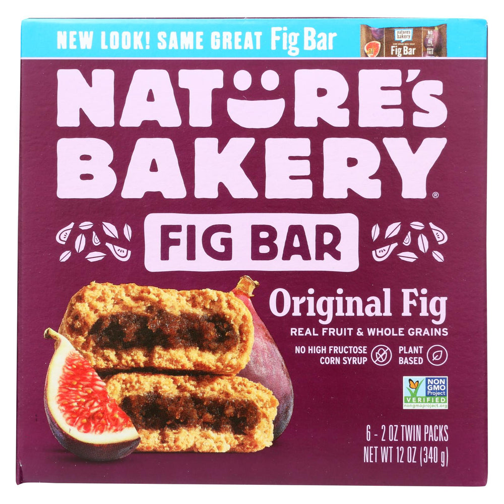 Nature's Bakery Stone Ground Whole Wheat Fig Bar - Original - Case Of 6 - 2 Oz.