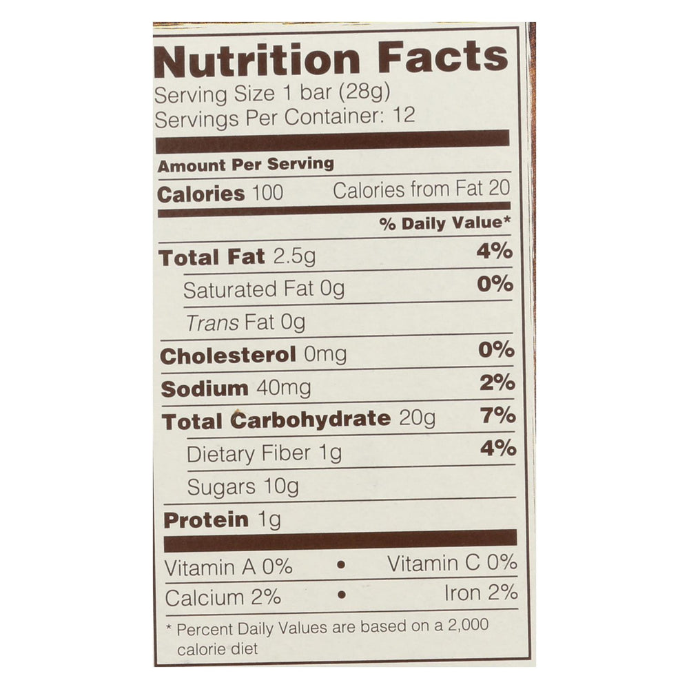 Nature's Bakery Gluten Free Fig Bar - Blueberry - Case Of 6 - 2 Oz.