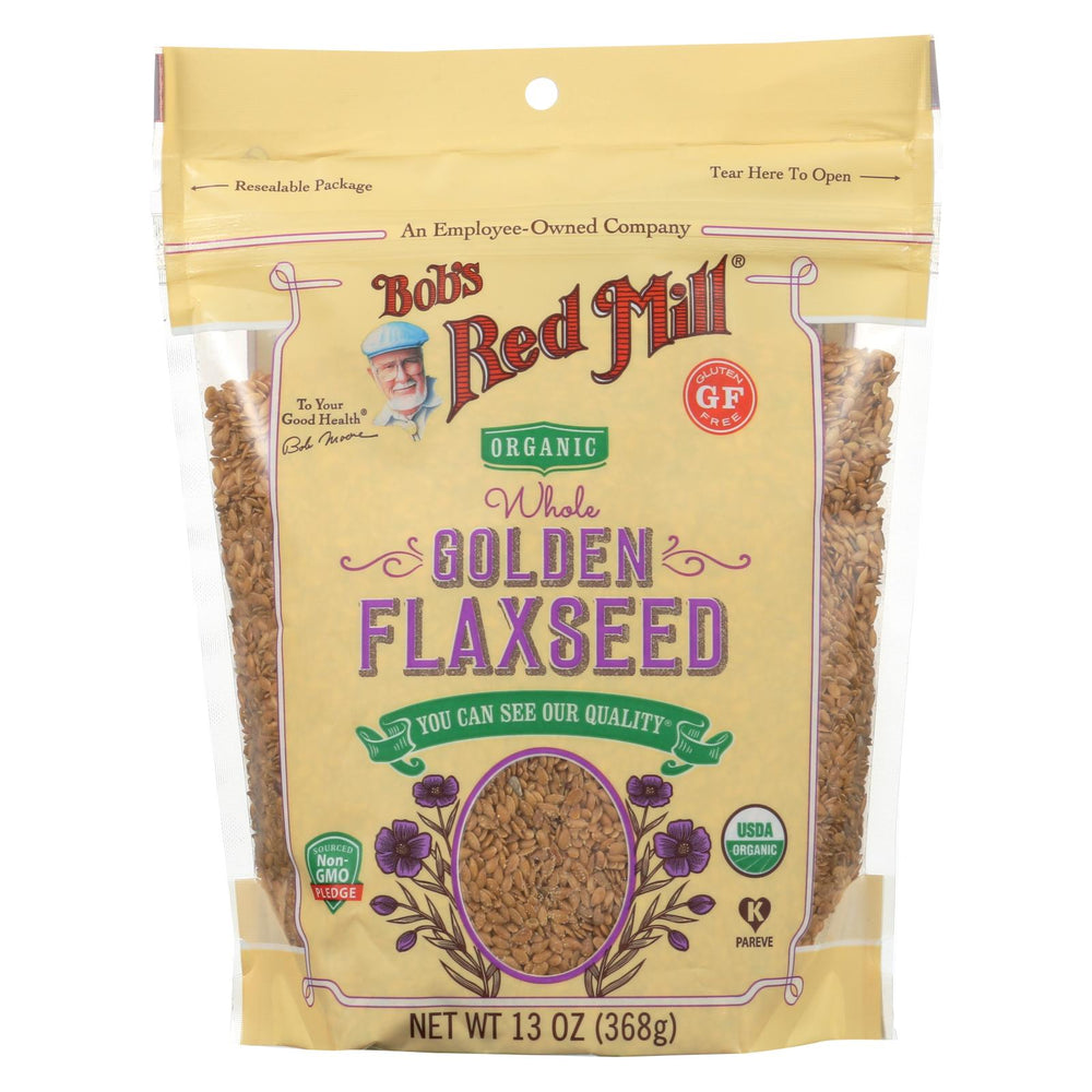 Bob's Red Mill - Organic Flaxseeds - Golden - Case Of 6 - 13 Oz
