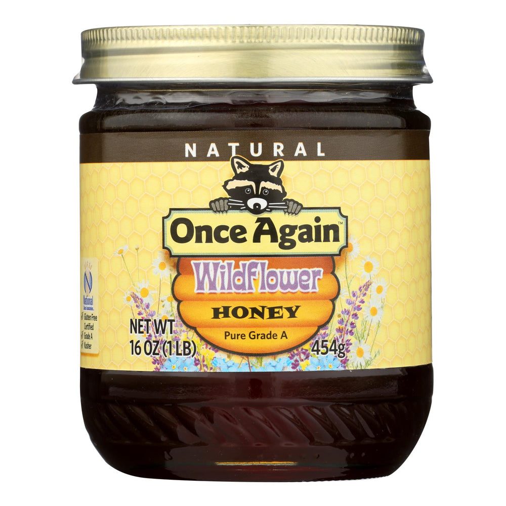 Once Again Wildflower Honey, Pure Raw - Case Of 6 - 1 Lb