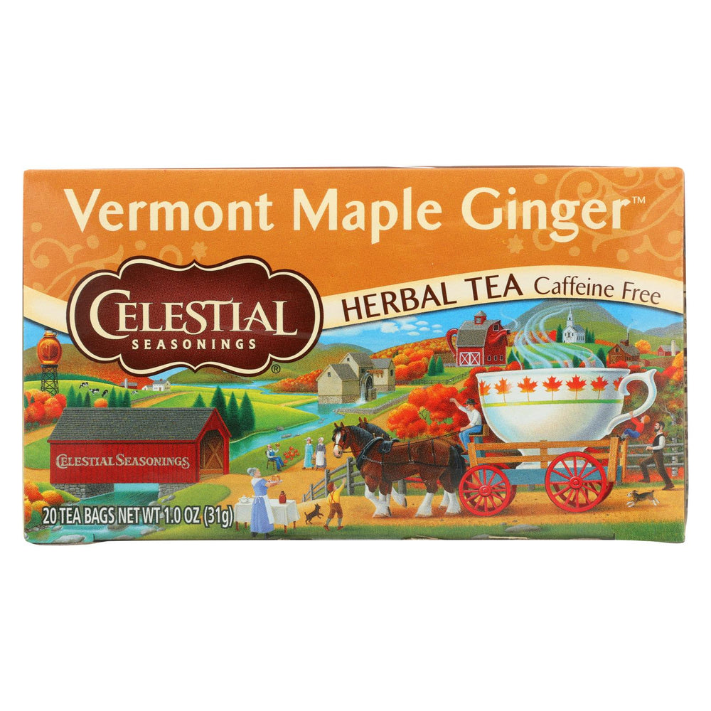 Celestial Seasonings - Tea - Vermont Maple Ginger - Case Of 6 - 20 Bags