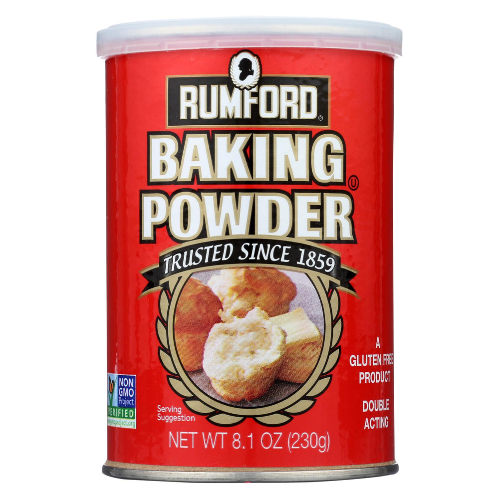 Rumford Baking Powder - Aluminum Free - Non-gmo - Case Of 12 - 8.1 Oz