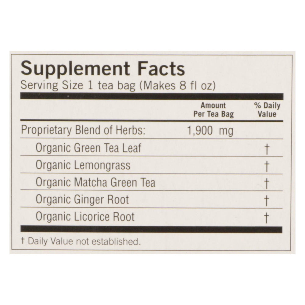Yogi Tea - Organic - Green - Passionfruit Matcha - Case Of 6 - 16 Bag