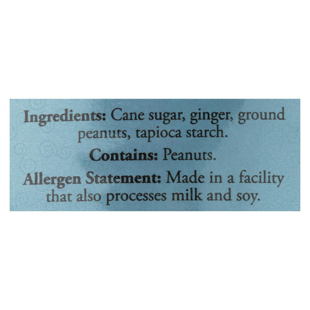 Ginger People Chewy Ginger Candy - Peanut - Case Of 12 - 3 Oz.