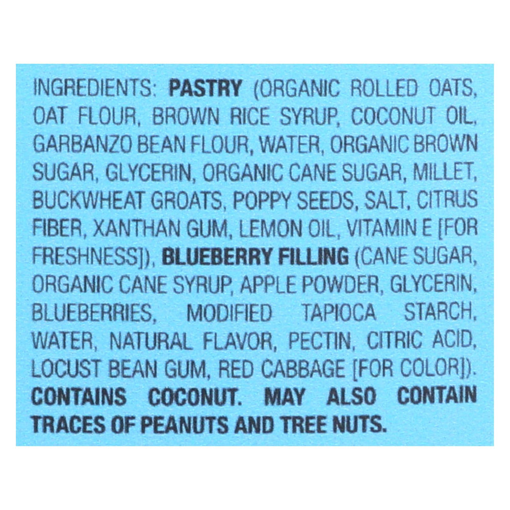 Bobo's Oat Bars - Toaster Pastry - Blueberry Lemon Poppy - Case Of 12 - 2.5 Oz.
