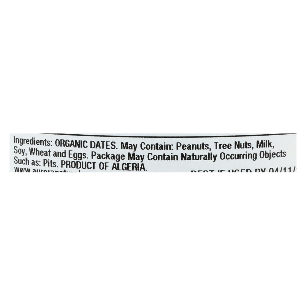 Aurora Natural Products - Organic Deglet Dates - Case Of 12 - 9 Oz.