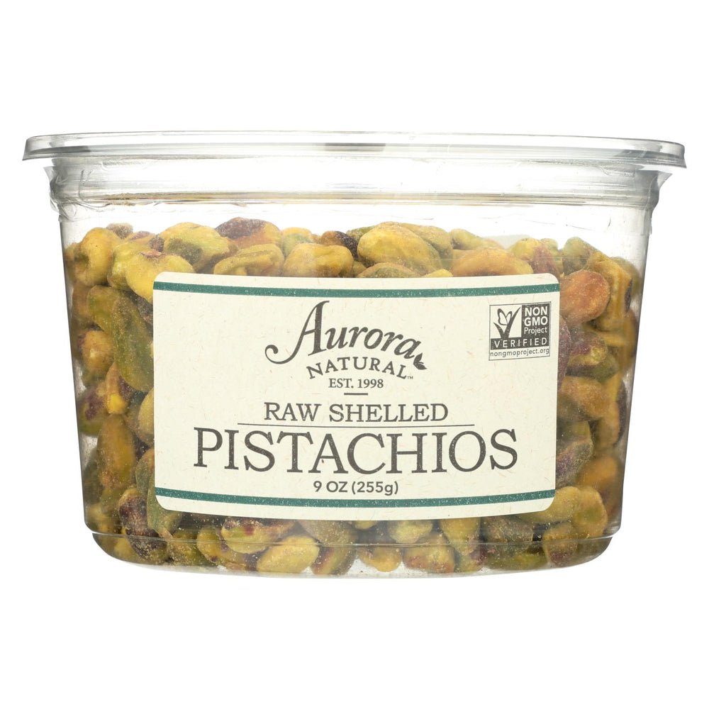 Aurora Natural Products - Raw Shelled Pistachios - Case Of 12 - 9 Oz.