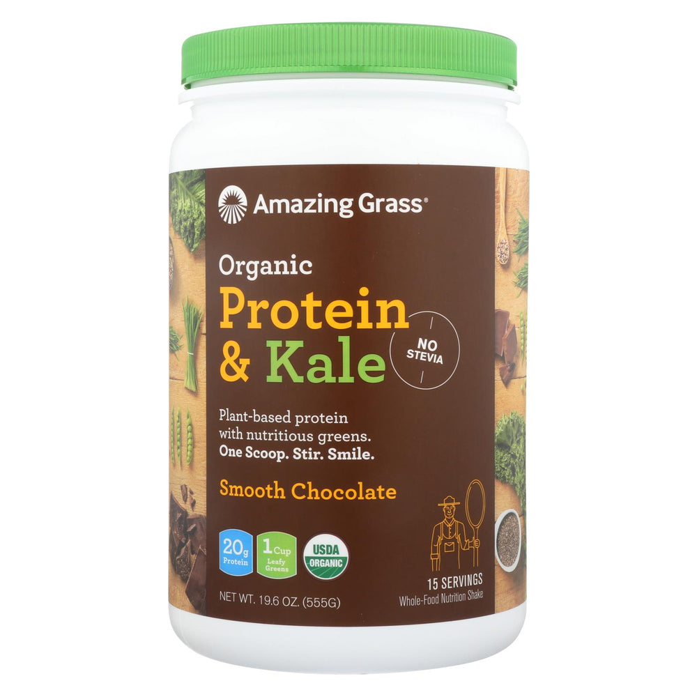 Amazing Grass Organic Protein And Kale Powder - Smooth Chocolate - 19.6 Oz