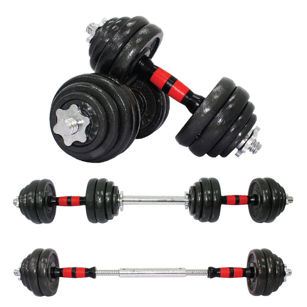 2 IN 1 30KG IRON DUMBBELL