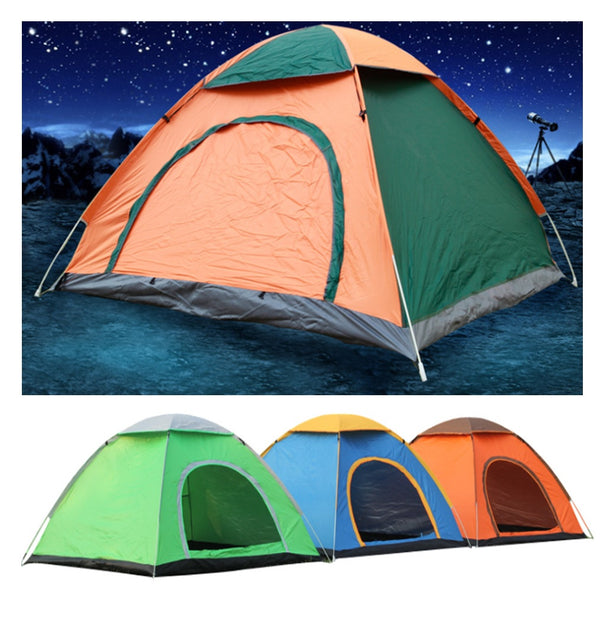 2 / 3 People Outdoor Camping Tent single or double Door Waterproof Automatic Pop Up Tent