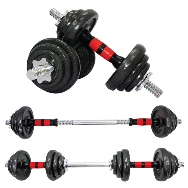 2 IN1 20KG IRON DUMBBELL