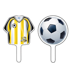 Fodbold cupcake toppers