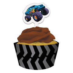 Monster truck cupcake wrappers