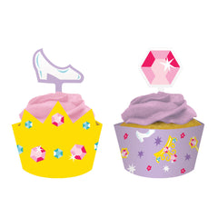 Prinsessens slot cupcake wrappers