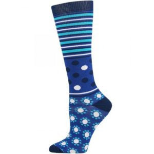 Abstract Dot and Stripe Compression Socks