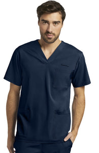V-Neck Solid Scrub Top