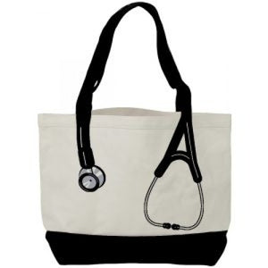 Canvas Stethoscope Tote