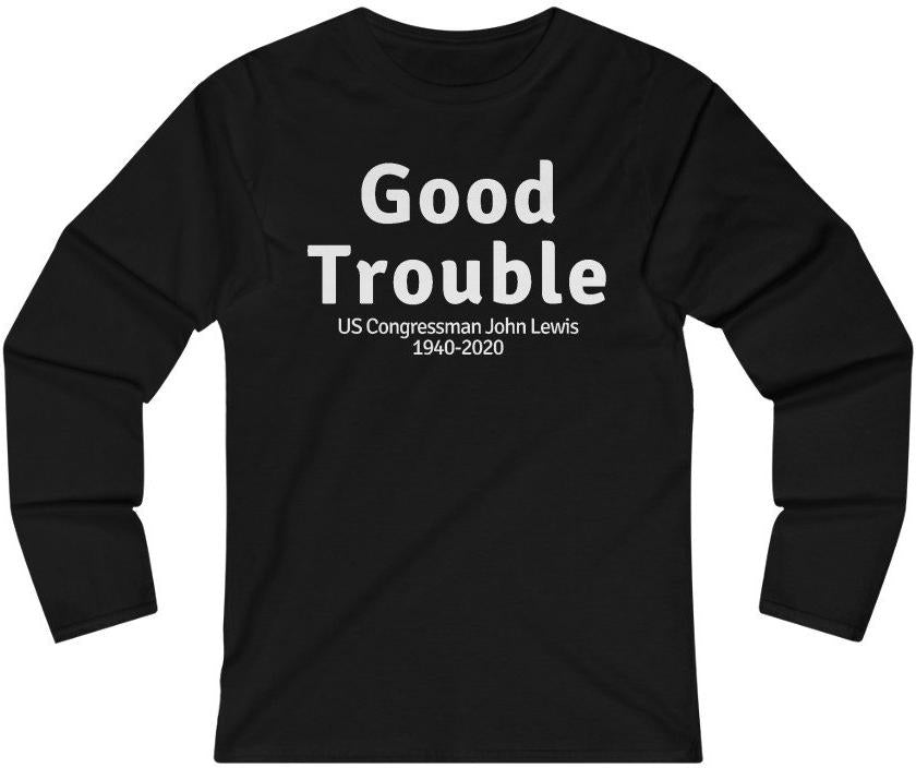 GOOD TROUBLE Women's Fitted Long Sleeve Tee