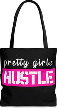 Load image into Gallery viewer, Pretty Girls Hustle Pink - Black Tote Bag