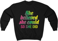 Load image into Gallery viewer, She Believed She Could So She Did - Unisex Heavy Blend™ Crewneck Sweatshirt